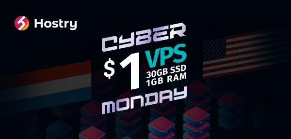 Hostry Cyber Monday Offer